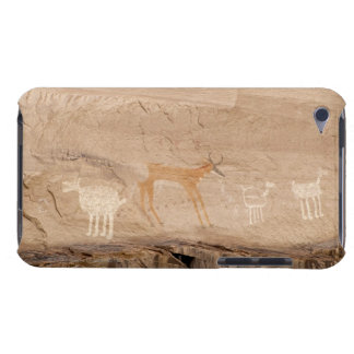 Pictographs of antelope, sheep and goats on barely there iPod cases