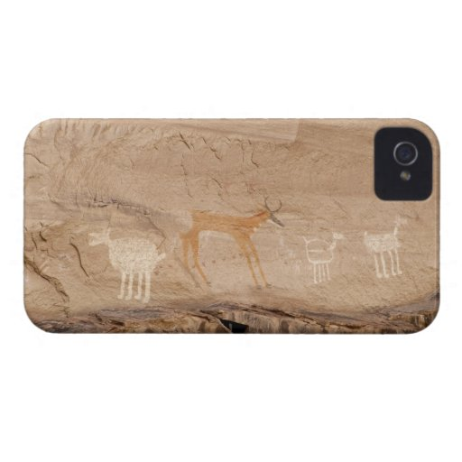 Pictographs of antelope, sheep and goats on iPhone 4 Case-Mate case