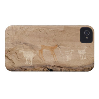 Pictographs of antelope, sheep and goats on iPhone 4 cover