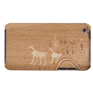 Pictographs on sandstone canyon walls in Canyon iPod Touch Case-Mate Case