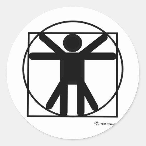 Pictohuman Classic Round Sticker
