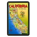 Pictorial California Map Flexible Magnet