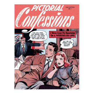 Pictorial Confessions #1  Postcard