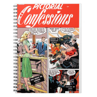 Pictorial Confessions - They Caught Me Cheating Spiral Notebook