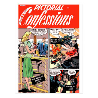 Pictorial Confessions - They Caught Me Cheating! Postcard