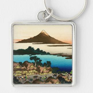 Pictorial Envelope 36 Views of Mount Fuji, Hokusai Keychain