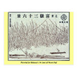 Pictorial for Hokusai's 36 views of Mount Fuji Post Cards