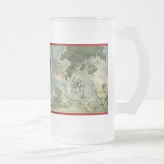 Pictorial Life of Nichiren Shonin pt.12 Frosted Glass Beer Mug