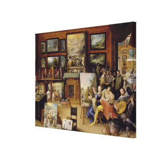 Pictura, Poesis and Musica in a Pronkkamer Canvas Print