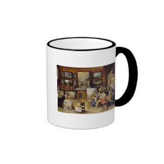 Pictura, Poesis and Musica in a Pronkkamer Ringer Coffee Mug