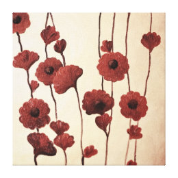 Pictural Red Flowers Canvas Print