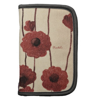 Pictural Red Flowers Folio Planner