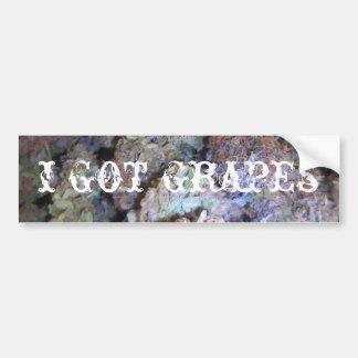 Picture 005, i got grapes bumper sticker