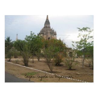 Picture 055, Bagan Pagoda in Myanmar Postcard