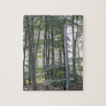 """PICTURE 131 JIGSAW PUZZLE<br><div class=""""desc"""">Image of sunlight amongst the trees in a Norfolk wood</div>"""