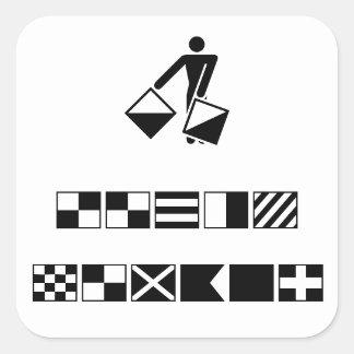 Picture (13) square sticker