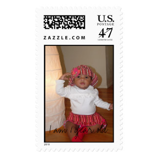 Picture 599, I am 1 year old Postage Stamp