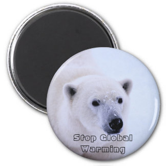 Picture 687, Stop GlobalWarming 2 Inch Round Magnet