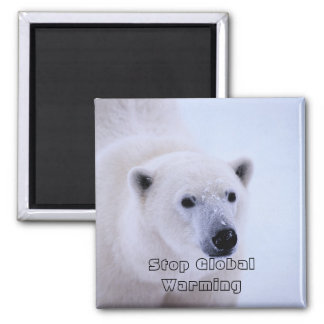 Picture 687, Stop GlobalWarming - Customized 2 Inch Square Magnet