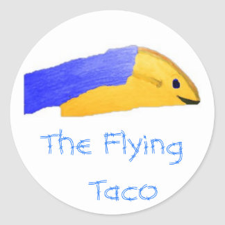 Picture 73, The Flying  Taco Classic Round Sticker
