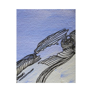Picture Abstract Blue Sandstone Canvas Art Gallery Wrapped Canvas