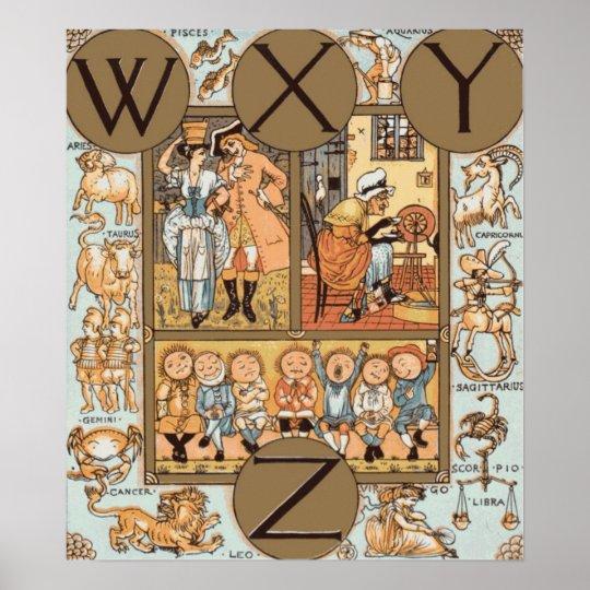 Picture Alphabet WXYZ Poster