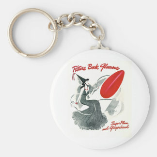 PICTURE BOOK GLAMOUR BASIC ROUND BUTTON KEYCHAIN
