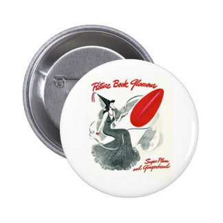 PICTURE BOOK GLAMOUR PINBACK BUTTON
