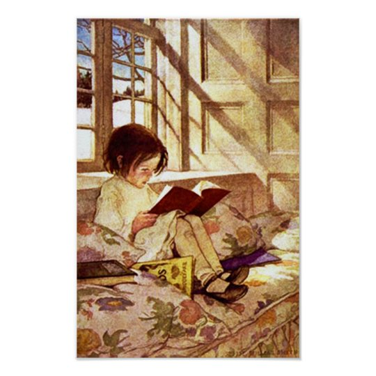 Picture Books in Winter by Jessie Willcox Smith Poster