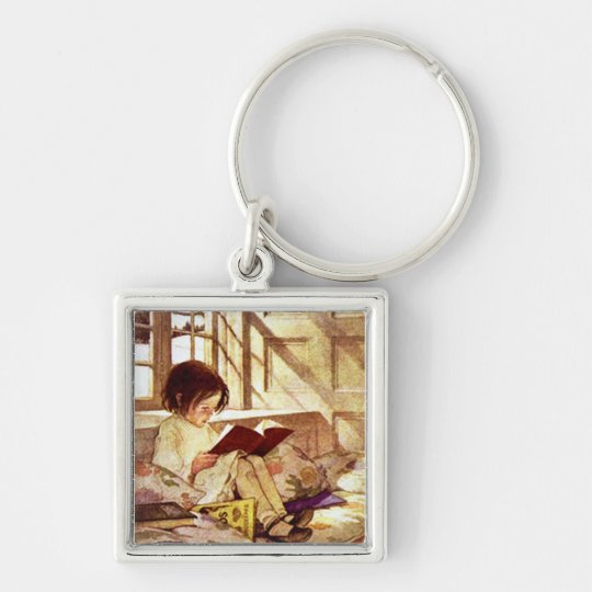 Picture Books in Winter Keychain