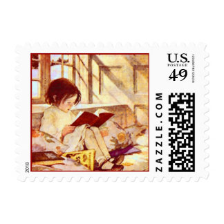 Picture Books in Winter Postage Stamp
