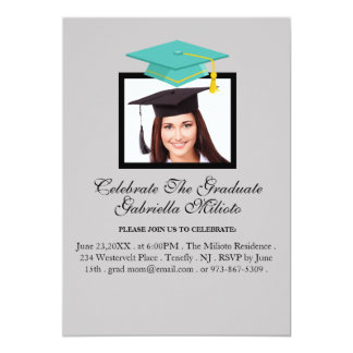 Picture Celebrate The Graduate Green Cap Invite