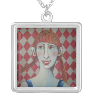 Picture day at Walmart Square Pendant Necklace