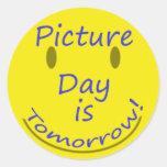 Picture Day Round Sticker
