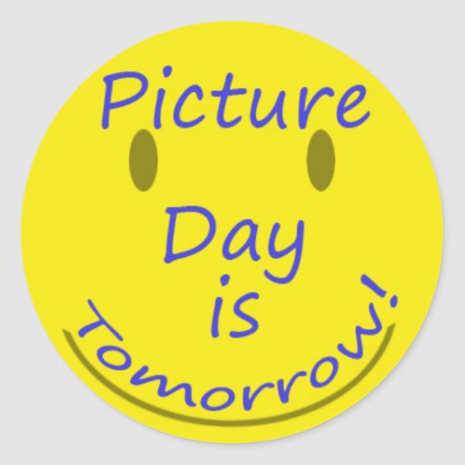 v day photo ideas - Picture Day Classic Round Sticker