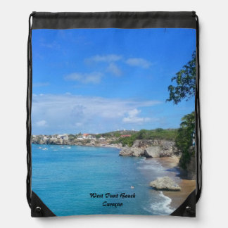 Picture DrawstringBackpack WestPoint Beach Curaçao Backpack