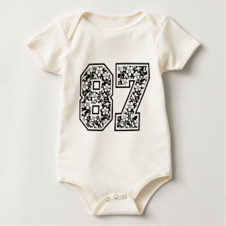 picture eighty seven flowers baby bodysuit