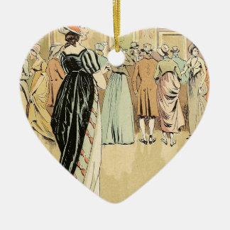 Picture Exhibition at the Salon 1800 Ceramic Ornament