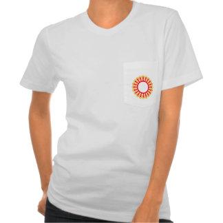 Picture flower pocket T-Shirt