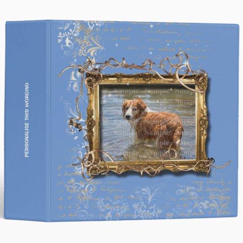 Picture frame floral vintage pet memorial  DIY 3 Ring Binder