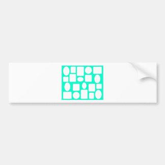 Picture Frame Landscape Cyan The MUSEUm Zazzle Bumper Stickers