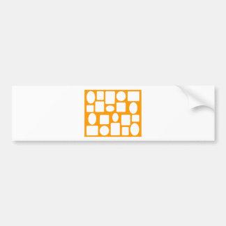 Picture Frame Landscape Orange The MUSEUM Zazzle Bumper Stickers