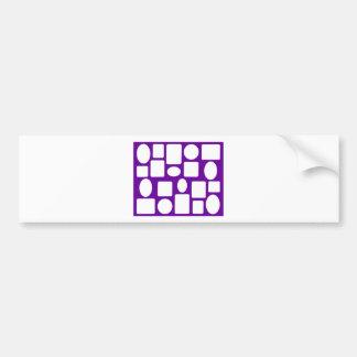 Picture Frame Landscape Purple The MUSEUM Zazzle Bumper Sticker