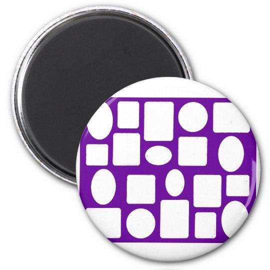 Picture Frame Landscape Purple The MUSEUM Zazzle Magnet