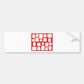 Picture Frame Landscape Red The MUSEUM Zazzle Bumper Sticker