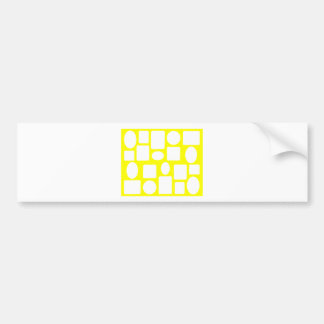 Picture Frame Landscape Yellow The MUSEUM Zazzle Bumper Stickers