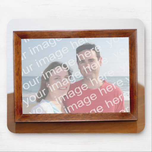 Picture Frame On Desk Mousepad Mouse Pads