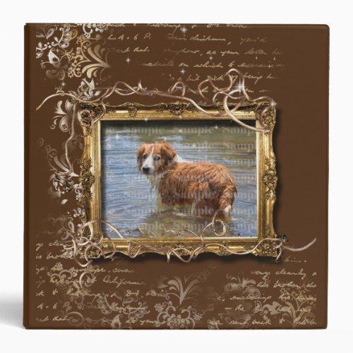 Picture frame ornate vintage pet memorial  DIY 3 Ring Binder