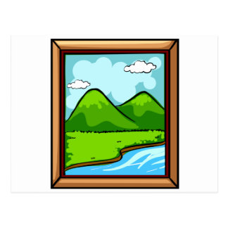 Picture frame postcard