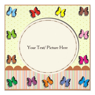 Picture frame with fullcolor butterfly card